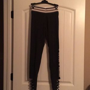 VS Pink Leggings with ankle cut outs
